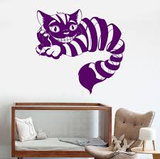 vinyl wall decal cheshire cat fairy tale fantasy nursery vinyl wall decal cheshire cat fairy tale fantasy nursery children s playroom stickers 1059ig