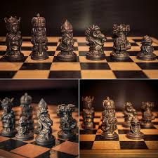 full chess set sculpted in oculus medium then 3d printed oculus
