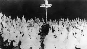 Confederate Flag Black And White Frightening Photo Featuring Students In Kkk Garb With Confederate