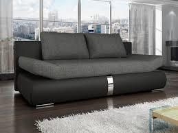 canapé convetible canapé convertible en tissu et simili 2 coloris jaden