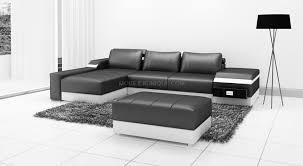 canapé avec pouf canapé d angle en cuir italien avec pouf design et pas cher modèle