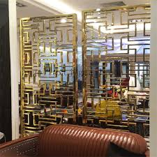 Metal Room Divider China Luxury Metal Room Dividers Color Stainless Steel Decorative