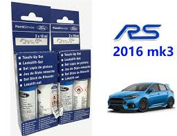 new genuine ford focus rs nitrous blue touch up paint kit 18ml