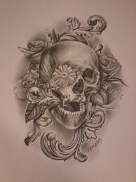 skull n roses by sepaha on deviantart