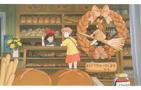 pretzel delivery wallpaper two shop shelves hayao miyazaki s delivery