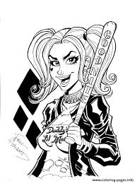 good night harley quinn coloring pages printable