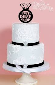 ring cake topper she said yes engagement cake topper
