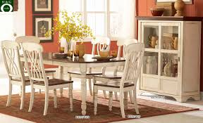 48 round off white brown cherry dining table set f2341 28 white