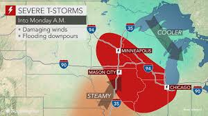 Canada Wildfire Minneapolis by Damaging Storms To Threaten Minneapolis To Chicago As Weekend Ends