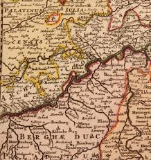 Ruby Map 17th Century Map Showing Westphalia In Germany By Pierre Mortier