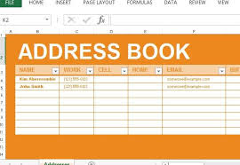 Microsoft Excel Address Book Template Address Book Maker Template For Excel