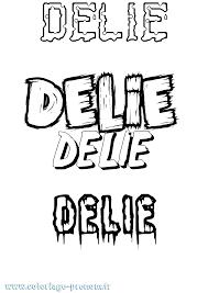 Coloriage du prénom Delie  à Imprimer ou Télécharger facilement