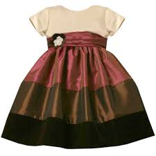 bonnie jean baby 12m 24m iridescent brown colorblock shantung