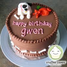 stuffed cakes dog u0026 cat birthday cake