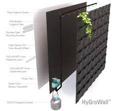 stylish vertical garden irrigation hygrowall for the garden