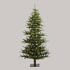 shop northlight 7 ft pre lit slim artificial tree with