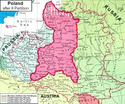 russia map before partition second partition of poland 1793