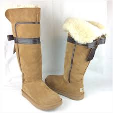 ugg s genevieve boot 38 ugg shoes ugg genevieve bow chestnut boots sz 9