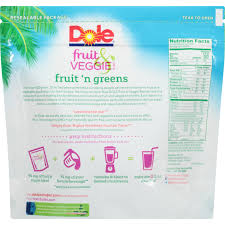 dole fruit u0026 veggie blends fruit u0027n greens smoothies 16 oz