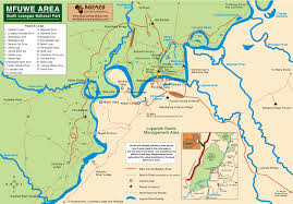 Zambia Map Mfuwe Area South Luangwe National Park Map U2022 Mappery