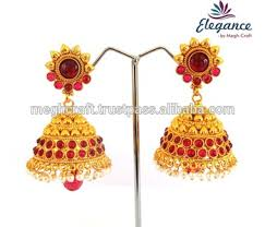 jhumka earrings online indian traditional jhumka earrings antique one gram gold pearl