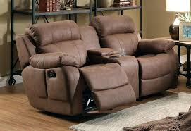 Loveseat Recliners Homelegance Marille Double Glider Reclining Love Seat With Center