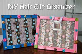 hair accessories organizer diy hair clip organizer giveaway