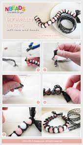 diy necklace making images Diy jewelry making with lace and beads pictures photos and jpg