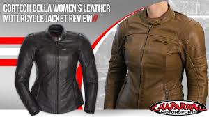 leather motorcycle accessories cortech bella womens leather motorcycle jacket review youtube