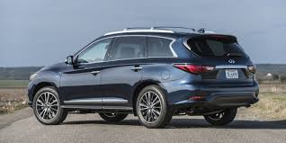 infiniti qx60 trunk space qx60 wins best luxury three row suv for families