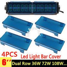 52 inch led light bar cover 4x 6 inch snap on blue lens cover for led light bar atv utv 50 52
