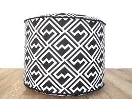 black white pouf ottoman tips simple design your own white pouf