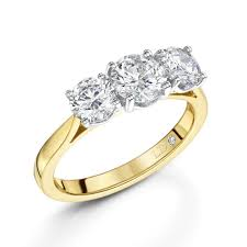 engagement rings yellow gold 2 03ct18ct yellow gold brilliant cut 3 diamond ring three