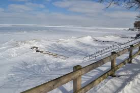 Frozen Waves Crawling From The Wreckage Lake Erie In Winter