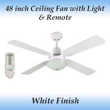 fias ramo white 4 blade ceiling fan with light and remote ebay
