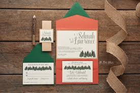 rustic invitations selenah rustic pine tree wedding invitation all that glitters