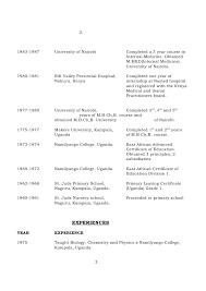 Resume Curriculum Vitae Samples by Curriculum Vitae Examples Kenya Resume Ixiplay Free Resume Samples