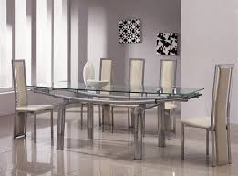Black Glass Extending Dining Table 6 Chairs Arctic White Extending Black Glass Dining Table And 6 Chairs