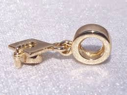 graduation cap charm authentic pandora graduation cap bracelet charm 14k gold 585
