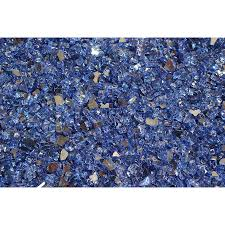 glass for fire pit shop exotic glass 25 lb cobalt blue reflective tempered glass gas