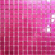 glitter pink mosaic glass bathroom wall tiles shower bath basin
