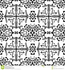 vector seamless texture black and white tribal geometric pattern