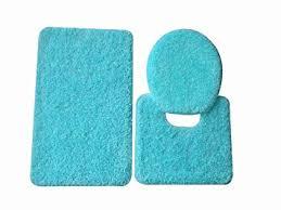 Teal Bathroom Rugs 5th Avenue 3 Bathroom Rug Set Bath Mat