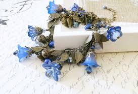 handmade flower bracelet images Airbrushed and enameled lucite flower charm bracelet sahetah 39 s jpg