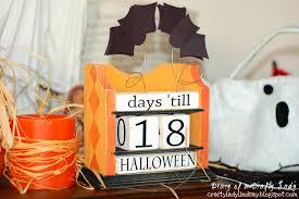 Halloween Day Decoration Diary Of A Crafty Lady Halloween Countdown Block Calendar