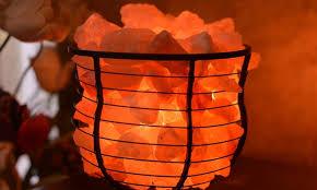 himalayan salt rock light up to 57 off on himalayan rock salt ls groupon goods