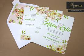 wedding invitations quezon city gold leaf printing services manila philippines