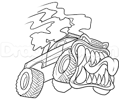 grave digger monster truck coloring pages how to draw a monster truck how to draw a monster truck how