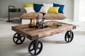 Wohnzimmertisch Rollbar Couchtisch Holz Mit Rollen Couchtisch Metall Couchtisch