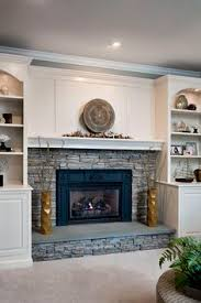 Fireplace Bookshelves by Shiplap And Brick Fireplace U2026 Pinteres U2026